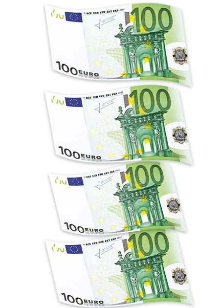 2 Std. Arbeit - 400 € verdienen