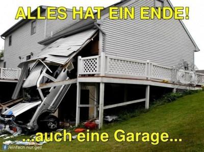 Ende der Garage