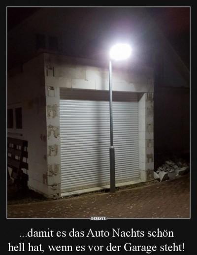 Garage mit Beleuchtung