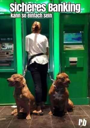 Begleitschutz für Geldautomat