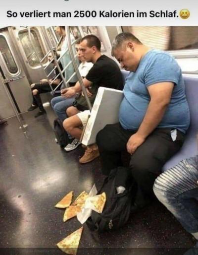 Kalorien verlieren im Schlaf